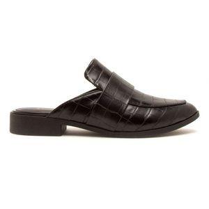 5⭐️Black Crocodile Mule Ballerinas- shoe
